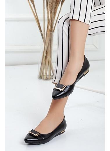 Dilimler Ayakkabı Babet Siyah